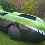Oberseite grün-metallic/ Unterseite schwarz RAL9017