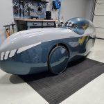Oberseite grau, Unterseite Audi polarblau